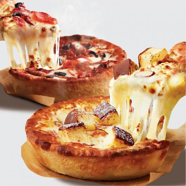 애슐리 딥디쉬 피자 3개 세트(시카고/치즈케이크)