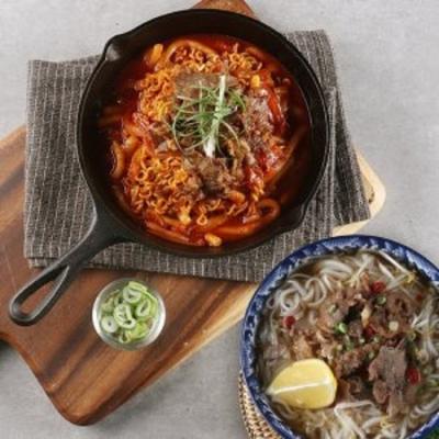 고기 듬뿍 쌀국수+매콤불고기떡볶이 총 4인분