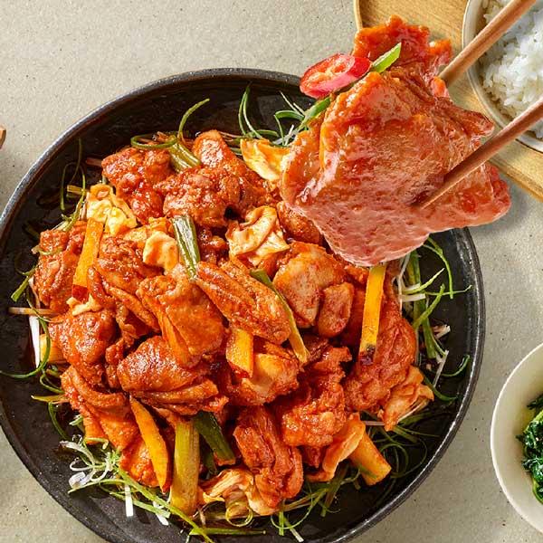 자연별곡 육식당 맵단 닭갈비 400g*2팩(4인분)