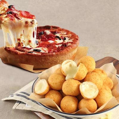 애슐리 롤링 치즈볼 2봉+시카고 딥디쉬 피자 1개
