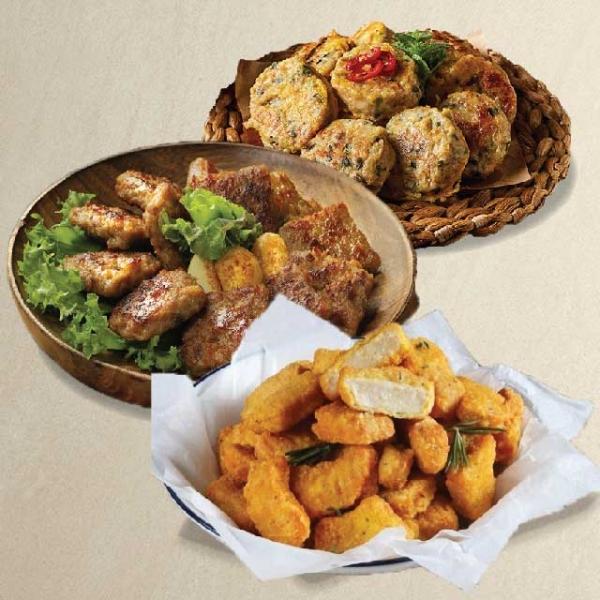 국민 집반찬 3종세트(동그랑땡+떡갈비+치킨너겟 2봉)